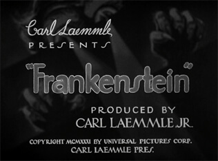 Frankenstein title screen