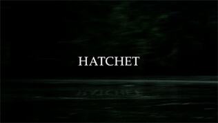 Hatchet title screen