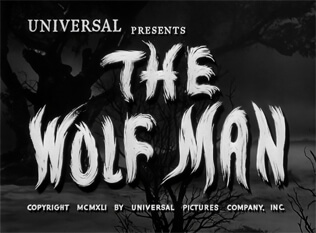 The Wolf Man title screen
